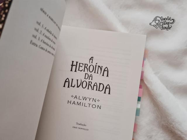Resenha: A Heroína da Alvorada - Alwyn Hamilton