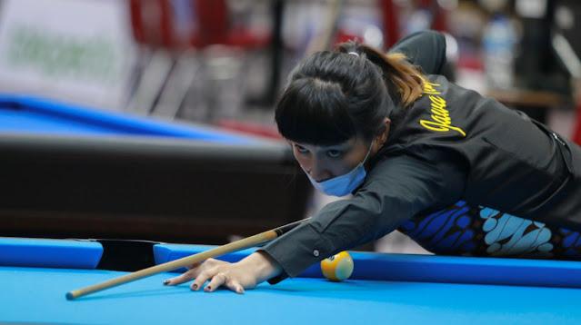 Final Nine Ball Putri Angeline Persembahkan Emas Untuk Jateng