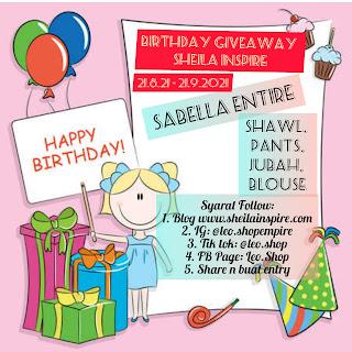 Birthday GiveAway Sheila Inspire