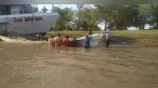 Pescador desaparece no rio Amazonas após acidente entre navio e barco de pesca em Óbidos
