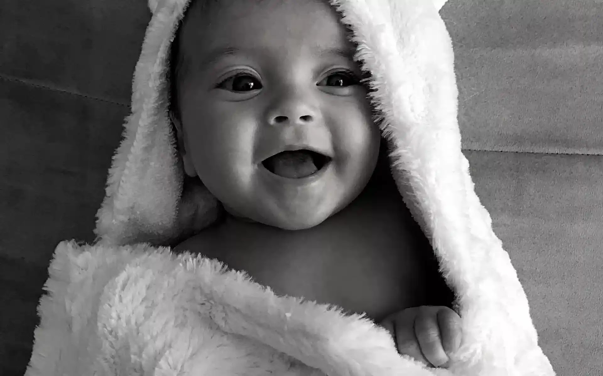 Black and white baby pictures