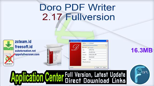 Doro PDF Writer 2.17 Fullversion