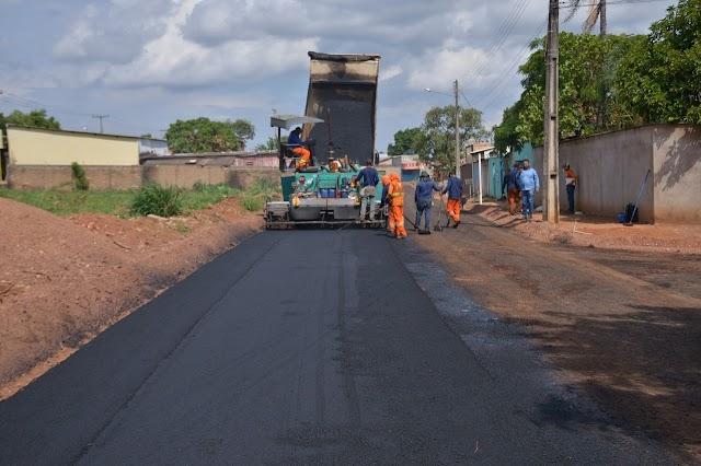 Aparecida: Retiro do Bosque e Rosa dos Ventos recebem pavimentação; obras devem ser concluídas ainda este ano