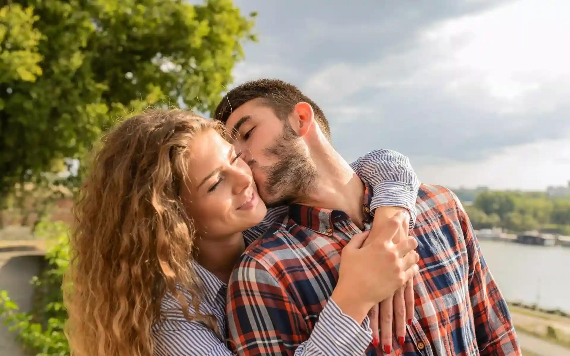 romantic love couple photo
