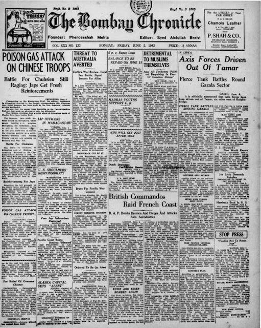 Bombay Chronicle 5 June 1942 worldwartwo.filminspector.com