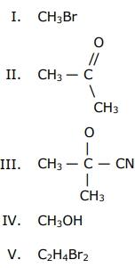 Observe as seguintes fórmulas químicas