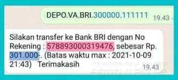 Cara Deposit Family Pulsa Via Virtual Account (BRI, BNI, Mandiri & Permata)
