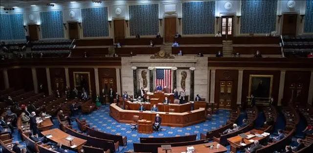 A bicameral session of the US Congress. Illustration: AFP