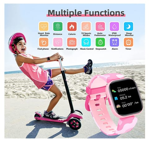 KeBuLe H99 Smart Watch for Girls with Heart Rate Monitor