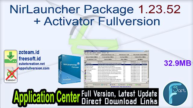 NirLauncher Package 1.23.52 + Activator Fullversion