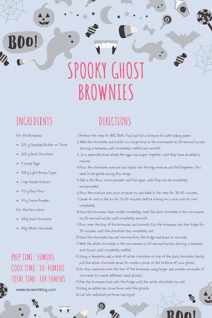Ghost brownie recipe