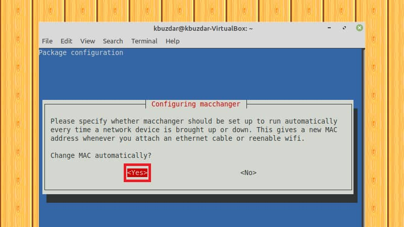 How to change the MAC address on Ubuntu 20.04 using Macchanger