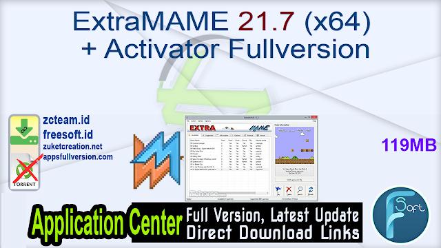 ExtraMAME 21.7 (x64) + Activator Fullversion