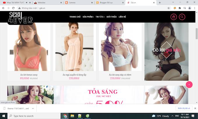 Website thời trang Sexy