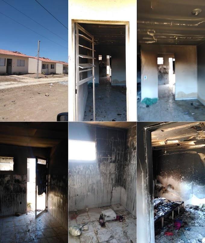 Invasores de casas do Residencial Cruzeiro incendeiam imóveis após Polícia Federal dá prazo para desocupação