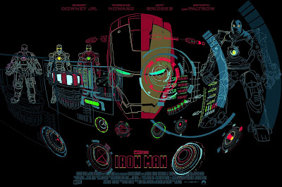 New York Comic Con 2021 Exclusive Iron Man Screen Print by Raid71 (Chris Thornley) x Grey Matter Art
