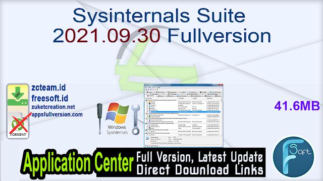 Sysinternals Suite 2021.09.30 Fullversion