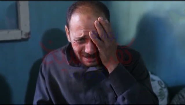 صورة من والد التلميذ يبكي