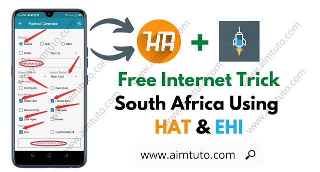 HTTP Injector and HA Tunnel Plus Free Internet Trick for South Africa All Network