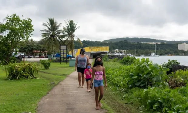 Despite its high vaccination rate, Guam still recorded a spike in COVID-19 cases. Photo: The Guardian