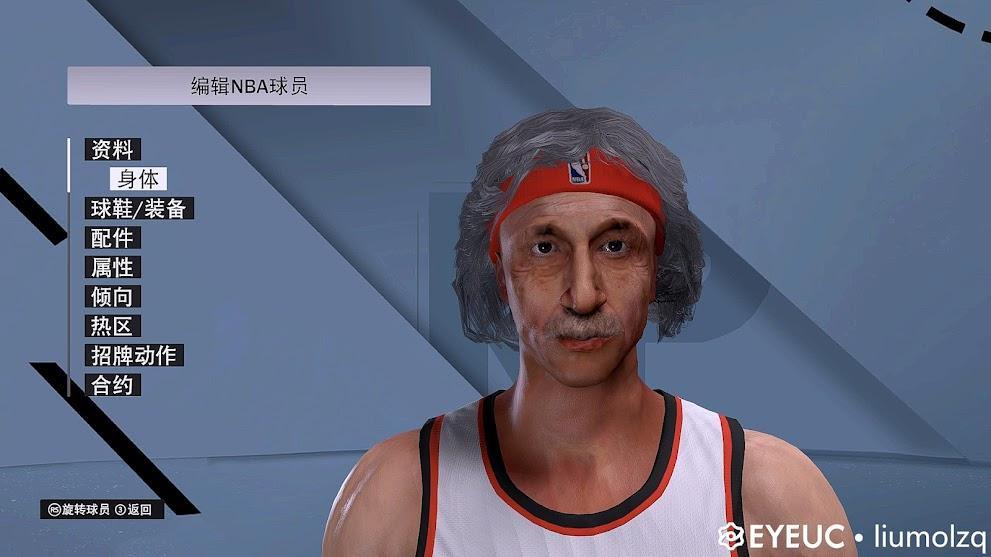 NBA 2K22 Albert Einstein Cyberface, Hair and Body Model by liumolzq