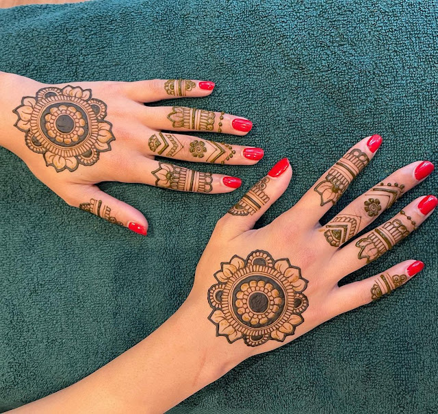 easy mehndi designs for karwa chauth