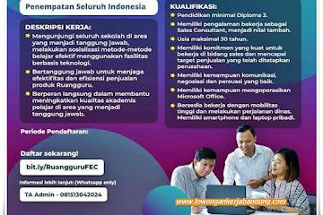 Loker Bandung Field Education Consultant Ruang Guru