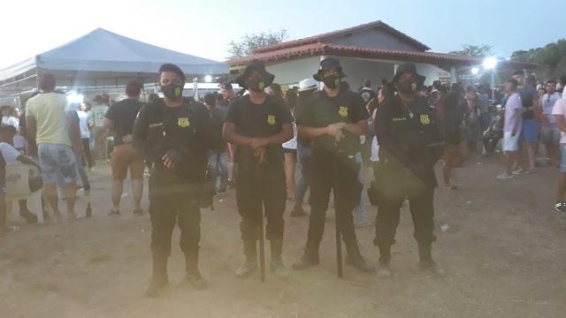 Dragões da segurança prestou mais um grande serviço dessa vez na cavalgada do Bar Batata na região da Feira do Rolo