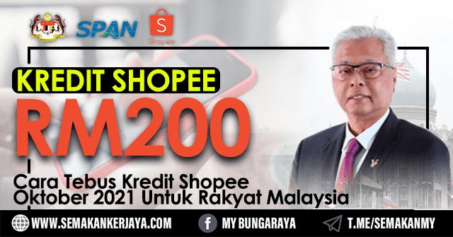Cara Klaim Kredit Shopee Iaitu Sebanyak RM200 Bagi Bulan Oktober - Klaim Sekarang!