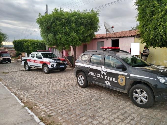 Operação da Polícia Civil de Cajazeiras com apoio da PM e Corpo de Bombeiros cumpre cinco mandados de busca e apreensão no distrito de São José em Bom Jesus
