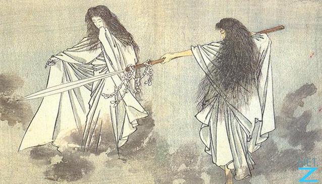Illustration of Izanagi and Izanami