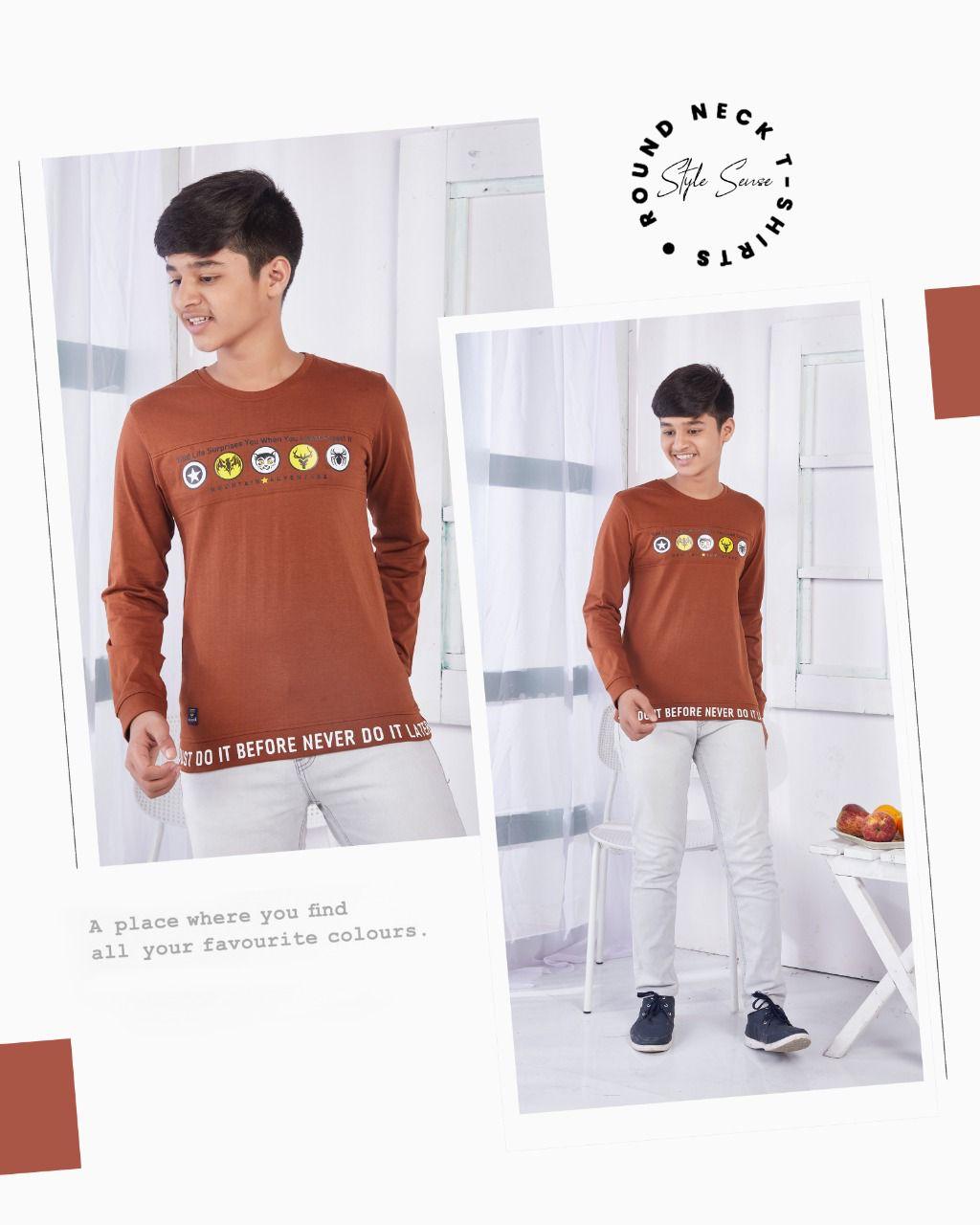 Jolly Joker Design No Jj 1131 Boys Tshirt Catalog Lowest Price