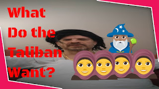 What do the Taliban really want? Image and text for funny video thumbnail.