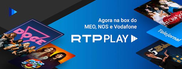 RTP Play disponível na box dos operadores MEO, NOS e Vodafone