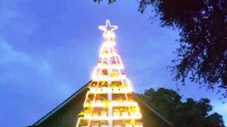 Kreasi Pohon Natal Tertinggi di Luwu Timur Jadi Perhatian Publik