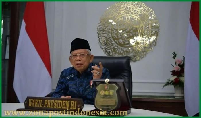 KH. Ma'ruf Amin Wakil Presiden RI Minta TNI-Polri Perkuat Sinergi dengan Pemda Untuk Percepat Vaksinasi