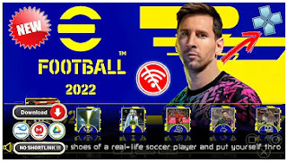 Download eFootball PES 2022 PPSSPP Android New Season Update Transfer & Minikit Like PS4