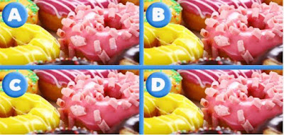 Can you figure out which yummy picture is different?