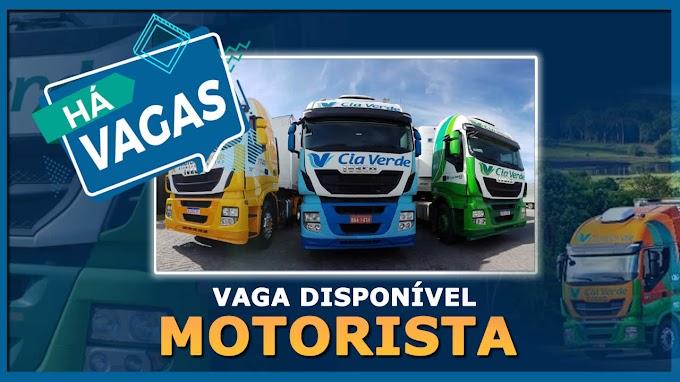 Transportadora Cia Verde abre vagas para motorista truck