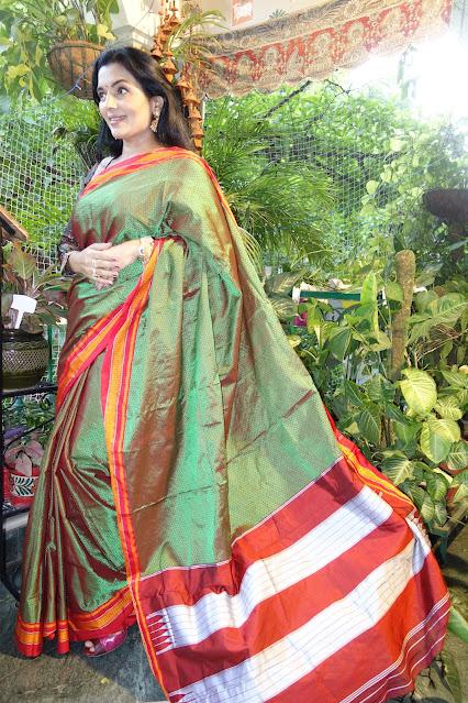 Khun saree with ilkal pallu