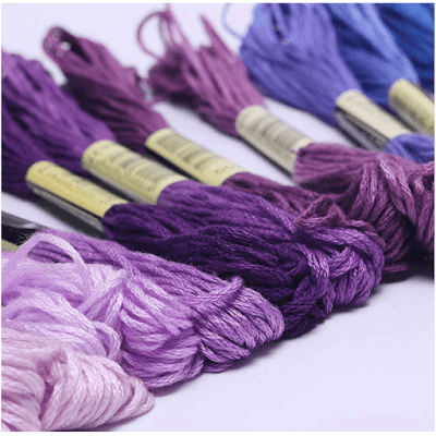 Premium rainbow color embroidery floss 140 skeins per pack