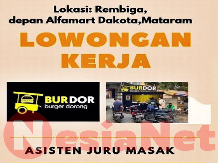 Lowongan Kerja Burger Dorong Mataram Lombok NTB