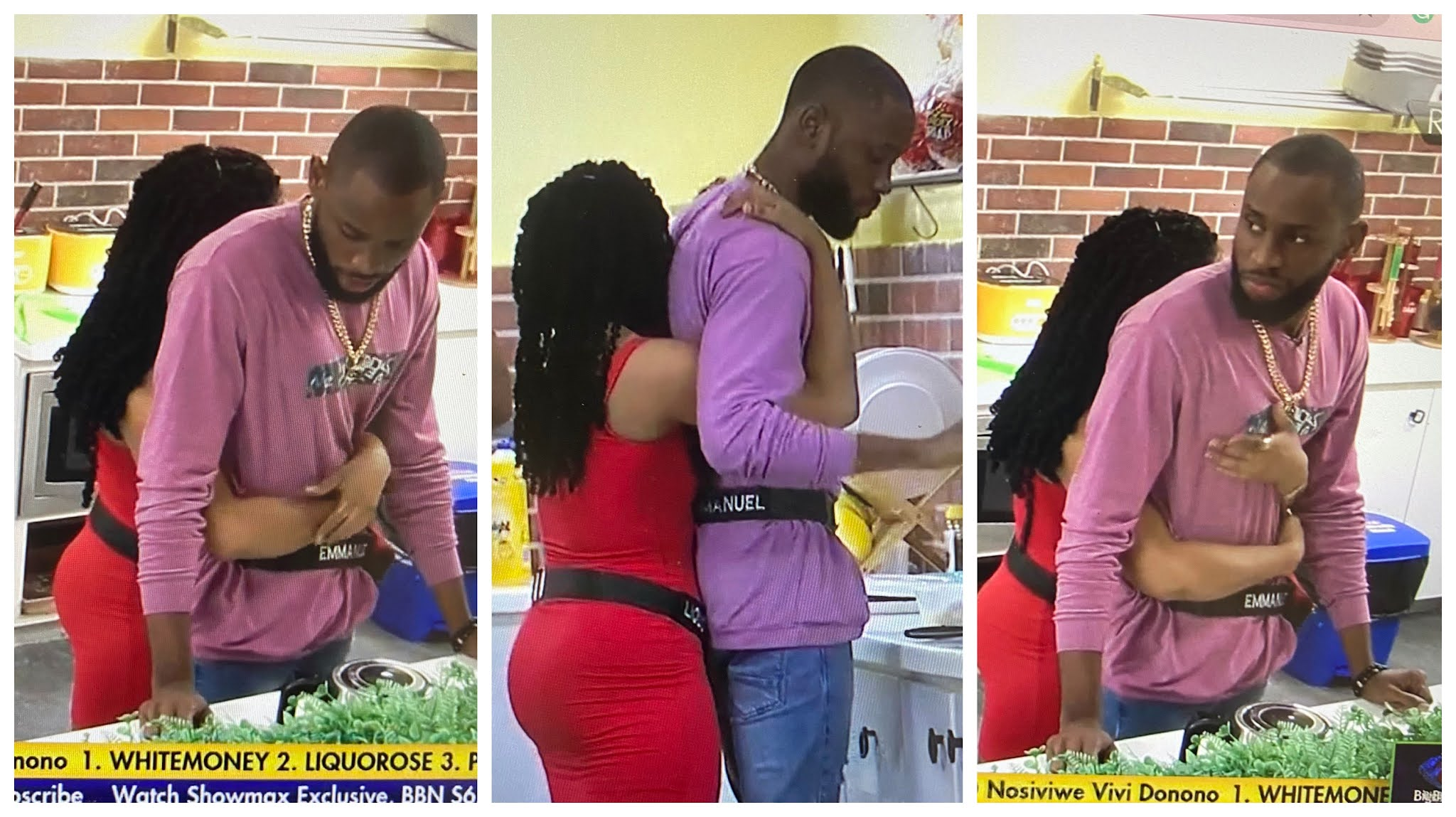 BBNaija: These Liquorose and Emmanuel's romantic pictures are all you need to see today