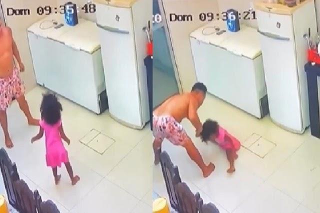 Uma Mãe deixa filha de 4 anos sozinha com 'tio' e fica em choque ao ver as imagens da câmera