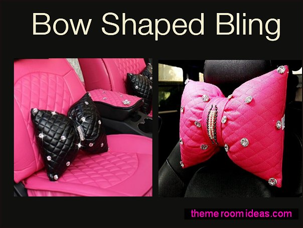 bow-shaped pillow bling pillows  bow-shaped headrest throw pillows