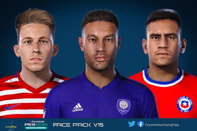 Facepack V15 2021 For eFootball PES 2021