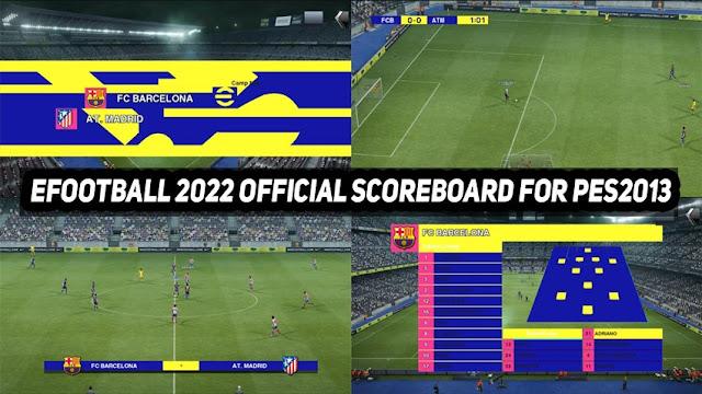 eFootball 2022 Scoreboard For PES 2013