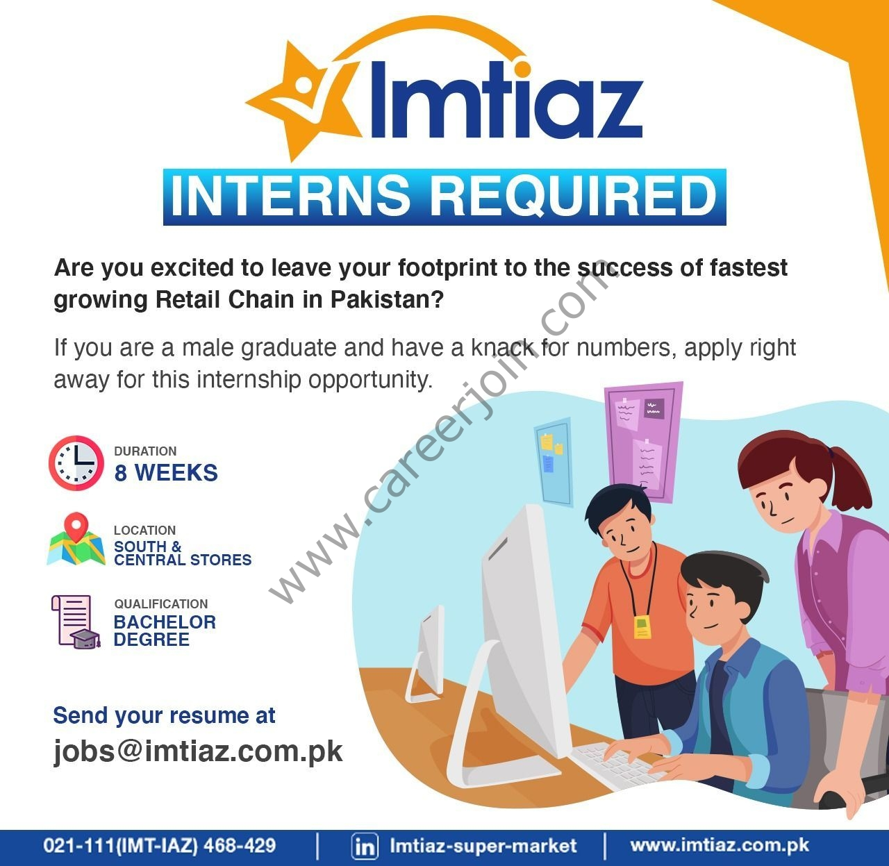 Imtiaz Super Market Internships October 2021