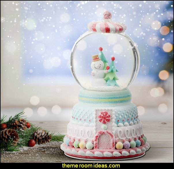 Candy Snowman Waterglobe  christmas decoration candyland christmas