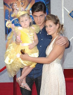 Chelsea Thea Pagnini with her husband Zane and their daughter
